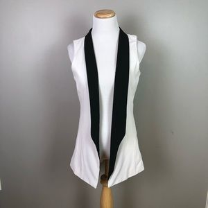Anthropologie Tinley Road White Tuxedo Vest Medium